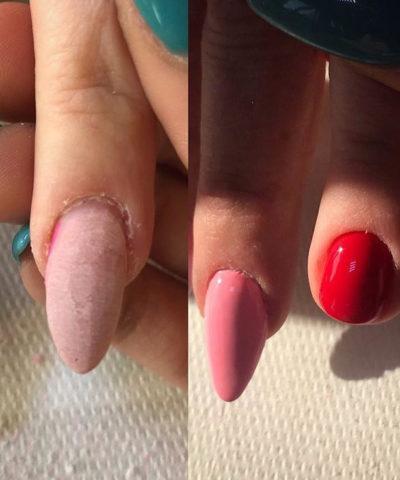mano di donna curata